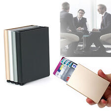 Business Aluminum ID Credit Card RFID Protector Holder Wallet Purse Slim Gold