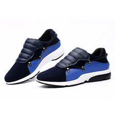 New Men's Sneakers Athletic Walking Shoes Casual Faux Leather Sports Trainers