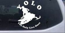 YOLO You Only Live Once Snowmobile Car Truck Window Laptop Decal Sticker 10X8.8