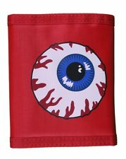 Mishka NYC Nylon Keep Watch Hook and Loop Trifold Wallet Bloodshed Eye NWT