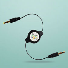 3.5mm Retractable Compact Male to Male Aux Auxiliary Stereo Audio Cable Cord