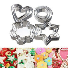 3pcs Stainless Steel Cookie Biscuit Pastry Cake Decorating Mold Mould Cutter New