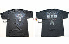 HARD ROCK CAFE HONOLULU HAWAII  BLACK CROSS SKULLS GUITAR Tee Shirt T Men's XL