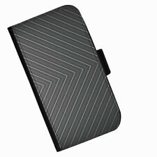 BG 133 BLACK LINES PRINTED LEATHER WALLET/FLIP CASE COVER FOR MOBILE PHONE