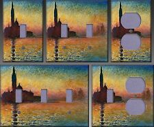 Monet Sunset In Venice Wall Decor Light Switch Plate Cover