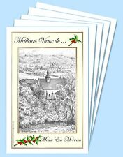 MV 58129 - 5 CARTES DE VOEUX (6 versions) 58 MOUX EN MORVAN