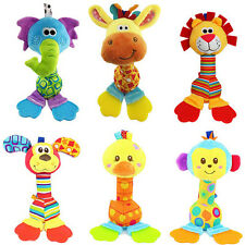 Cute Baby Hanging Toy Cartoon Animal Teether Rattle Hand Bell Plush Stroller Toy