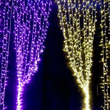 300/600 Led Curtain Fairy Lights Indoor Outdoor Christmas Garden Wedding Party
