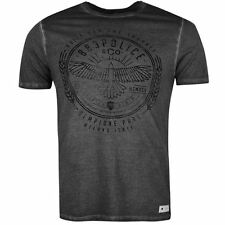 883 Police Mens Hunt T Shirt Graphic Print Faded Short Sleeve Crew Neck Tee
