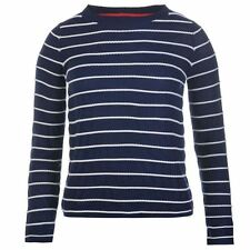 Kangol Womens Striped Knit Jumper Lightweight Pullover Long Sleeve Crew Neck Top