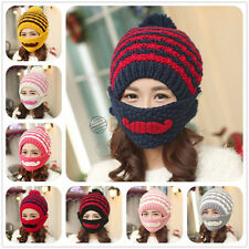 Winter Warm Beard Mask Wool Hat Handmade Wig Wool Hobo Mad Hats Knitted Cap