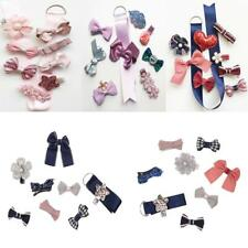 Cute Toddle Girls Hair Clip Barrette Set with Grosgrain Ribbon Storage Organizer