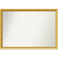 Wall Mirror Choose Your Custom Size -  Extra Large, Townhouse Gold Wood