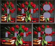 Red Tulips Wall Decor Light Switch Plate Cover