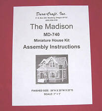 Dura-Craft  *MADISON* MD-740 Dollhouse Instructions