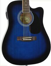 Jameson Used Full Size Thinline Blue Acoustic Electric Guitar with Pickup