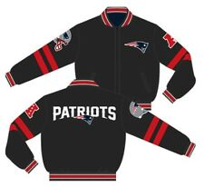 New England Patriots Jacket Charcoal Navy NFL Wool Reversible By JH Design SALE