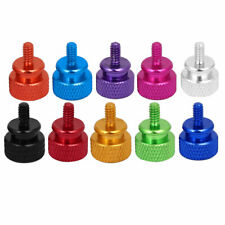 Computer PC Case Fully Threaded Knurled Thumb Screws 6#-32 4pcs