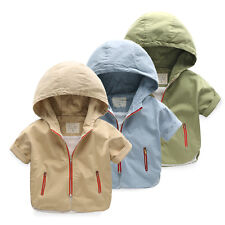 NWT Kids Baby Boys zipper Hooded Outerwear Jacket autumn spring Clothes