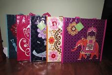 Vera Bradley SHOPPER TOTE Reusable Grocery Gift Bag SAFARI SUNSET or FOLKLORIC
