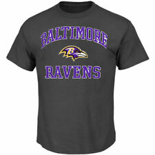Baltimore Ravens Majestic Big & Tall Heart & Soul III T-Shirt - Charcoal - NFL