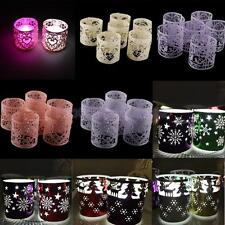 6 Christmas Mix Style Tea Light Holder Home Decor Made Retro Candle Stand