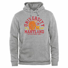 Maryland Terrapins Lets Go Terps Pullover Hoodie - Ash - NCAA