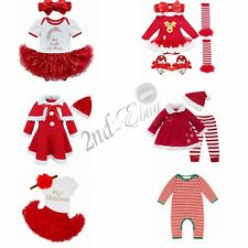 My 1st Christmas Santa Newborn Baby Girl Romper Fancy Tutu Dress Outfit Clothes