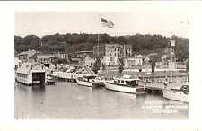 Pier & Boathouse Harbor Springs MICHIGAN RPPC Real Photo Postcard