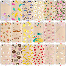 Crystal Clear Patterned Soft TPU Silicone Back Case Cover For iPhone 7 / 7 Plus