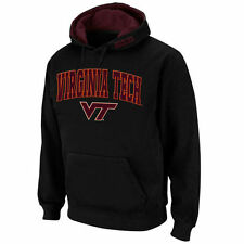 Virginia Tech Hokies Stadium Athletic Arch & Logo Pullover Hoodie - Black - NCAA