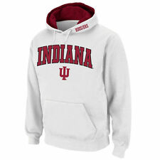 Indiana Hoosiers Stadium Athletic Arch & Logo Pullover Hoodie - White - NCAA