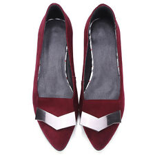 AU Sizes Leather Low Heel Comfort Formal Heels Fashion Block Lady Shoes s3016