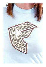 Famous Stars & Straps Womens Sky Blue Weave BOH Juniors T-Shirt New with Tags
