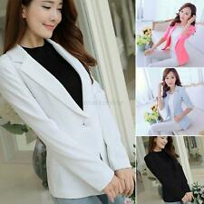 Women OL Business Blazer Suit Jacket Casual Long Sleeve Slim Coat Casual Outwear