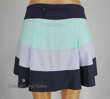 NEW LULULEMON Pace Rival Skirt Sz 4 TALL Aquamarine Cool Breeze Cadet Blue NWT
