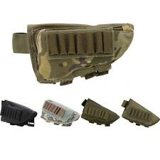 Outdoor Tactical Military Hunting Ammo Pouch Holder with Leather Pad NM C8O0