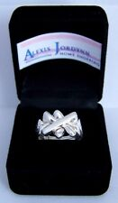 Turkish Puzzle 4 Band Ring - Sterling Silver Plated - King Design - Free Ship