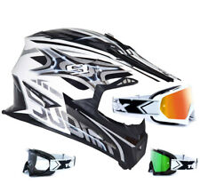 Suomy crosshelm Rumble Vision Silver Two-X RACE MX GOGGLES MOTOCROSS