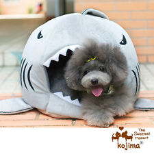Shark Mouth Teddy Pet Dog Cat Bed House Doggy Puppy Warm Kennel Cushion Pad Top