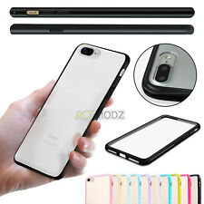 TPU Bumper PC Matte Clear Back Hard Case Skin Cover for Apple iPhone 7 & 7 Plus