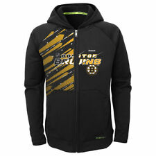 Boston Bruins Reebok Preschool TNT PlayDry Full Zip Hoodie - Black - NHL
