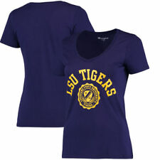 LSU Tigers Champion Women's College Seal V-Neck T-Shirt - Purple - NCAA