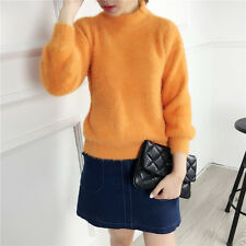 Women's Thick Knitted Sweater Coat Mink cashmere Loose Pullovers Long Outerwear