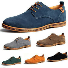 New Suede European Style Leather Shoes Mens Oxfords Casual Size Fashion Black