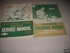 1971 GM Chevrolet Chevy Truck Service Shop Repair Manual Set 40-60 Chassis +