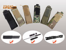1000D Tactical Molle Single Pistol Magazine Mag Pouch Flashlight Holster Airsoft
