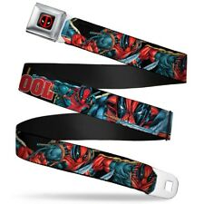 Deadpool Marvel Comics Antihero Sword Attack Seatbelt Belt