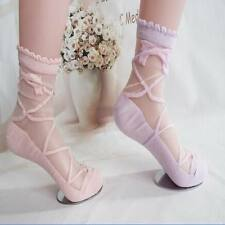 1Pair Lady Princess Sweet Sheer Mesh Cotton Bow Knit Lace Frill Trim Ankle Socks