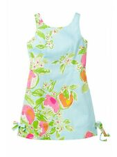 NWT Lilly Pulitzer Girls Little Delia Dress Pool Blue Pink Lemonade - Size 6 7 8